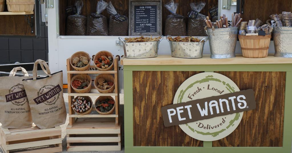 Pet Wants farmers market booth