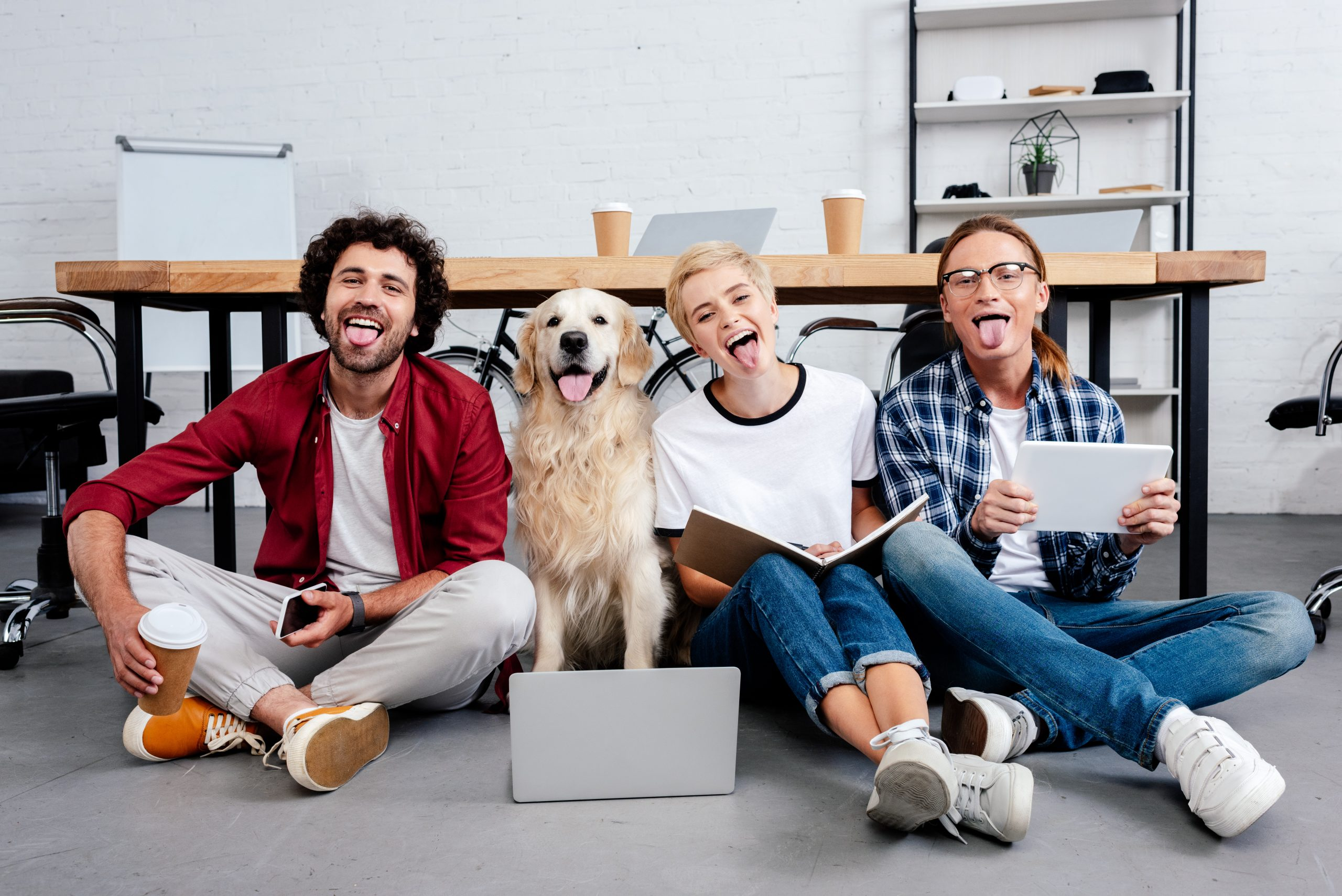 Happy people starting a pet business